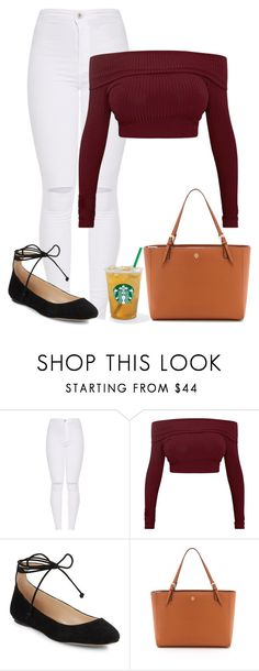 """""""Untitled #476"""" by stephaniasant on Polyvore featuring Karl Lagerfeld and Tory Burch"""