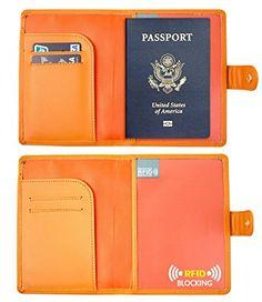 RFID Blocking Leather Passport Holder  Travel Wallet Id - http://freebiefresh.com/rfid-blocking-leather-passport-holder-review/