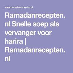 Ramadanrecepten.nl Snelle soep als vervanger voor harira | Ramadanrecepten.nl
