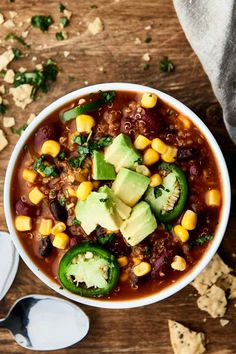 Homemade Instant Pot Chili Using Dried Beans Paint The . Pressure Cooker Chili With Dry Beans Instant Pot . Instant Pot Baked Beans {VIDEO} The Recipe Rebel. Vegetarian Chili, Vegetarian Recipes Easy, Gourmet Recipes, Healthy Recipes, Healthy Chili, Dinner Recipes, Vegetarian Dinners, Fast Recipes, Food Dinners