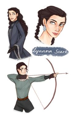 "a study of lyanna stark I wish we could have known more about what happened when Rhaegar ""kidnapped"" Lyanna - you know, so we'd know a little bit more about her character… Game Of Thrones Artwork, Hbo Game Of Thrones, Rhaegar E Lyanna, Jon Schnee, Game Of Thones, Fanart, Iron Throne, Mother Of Dragons, Valar Morghulis"