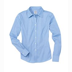 Brooks Brothers makes on of the best ladies fits in the business.  The cotton shirts look great with embroidery.