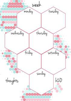 one week printable calendar