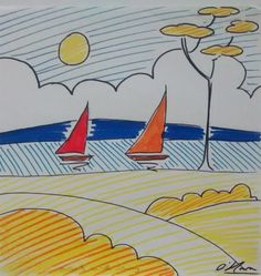 Buy Solway with sailboats., Drawing by Jack  O'Hara on Artfinder. Discover thousands of other original paintings, prints, sculptures and photography from independent artists.