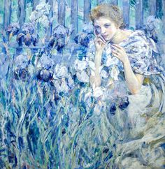 ⊰ Posing with Posies ⊱ paintings & illustrations of women & children with flowers - Robert Reid (1862-1929)