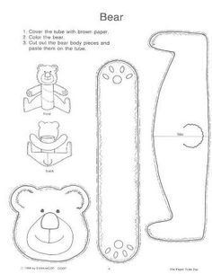 Toilet paper roll bear craft - we just did this and it was a good time killer Toilet Roll Craft, Toilet Paper Roll Crafts, Paper Crafts, Teddy Bear Crafts, Teddy Bear Day, Polar Bear, Craft Activities, Preschool Crafts, Art For Kids