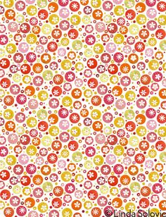Tangerine Twirl Pattern Collection by Linda Solovic, via Behance