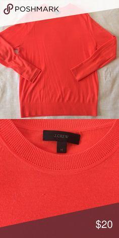 J Crew orange lightweight sweater Bright blood orange color. Lightweight. J. Crew Sweaters Crew & Scoop Necks