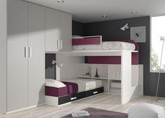 A medio camino entre camas compactas y literas blocks: los blocks o blocs son la versión más avanzada de la cama juvenil.