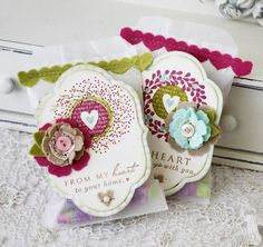 Gorgeous card / favor packaging by Melissa Phillips