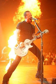 James Hetfield. Metallica. Saw them in 2004 with Godsmack at Freedom Hall in Louisville, KY.