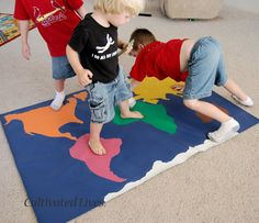 Global Twister: A Tutorial for making and playing the game. Fun! Could also modify this to do the United States.