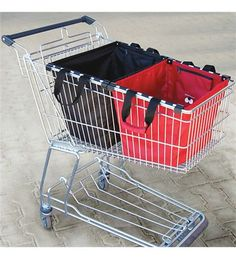 Reisenthel EasyBags shopping cart basket ... helps replace disposable paper bags and cardboard boxes at bulk retailers.