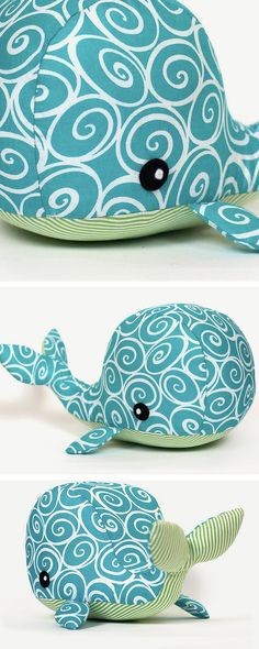 DIY tutorial: Sew a Whale Soft Toy  via en.DaWanda.com