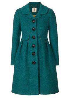 Orla Kiely Boucle Coat: Fitted coat in boucle textured fabric. Coat is button through at centre front with retro domed buttons. Pretty Outfits, Cute Outfits, Boucle Coat, Cute Coats, Mode Hijab, Mode Inspiration, Mode Style, Clothes For Sale, Winter Fashion