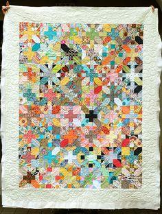 x & + quilt Scrappy Quilts, Easy Quilts, Beginning Quilting, Plus Quilt, Cross Quilt, English Paper Piecing, Applique Quilts, Quilt Tutorials, Quilt Making