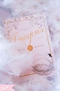 swan party printable invitation by Joyful Invitations