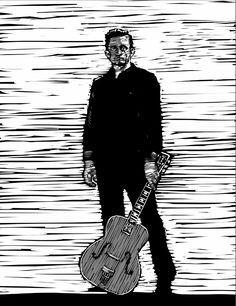 Johnny Cash Daddy Go, Johnny Cash, Black Men, Illustration, Illustrations, Black Man