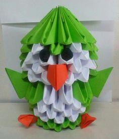 Origami 3D pingüino
