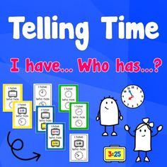 Telling Time, I have. The Game Is Over, Telling Time, Teaching Materials, Esl, The Twenties, Clocks, Posters, Student, Activities