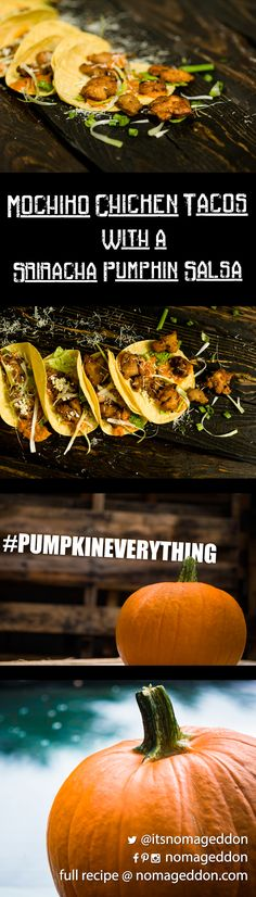 Mochiko Chicken Tacos on with a Pumpkin Salsa