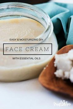 Easy and Moisturizing DIY Face Cream! Make in one day! #OrganicFaceMoisturizer Face Cream For Wrinkles, Cream For Oily Skin, Skin Cream, Face Creams, Wrinkle Creams, Organic Face Moisturizer, Homemade Moisturizer, Facial Cleanser, One Step