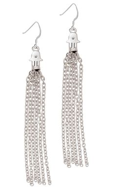 Mini Hamsa Hand Chain Tassel French Earrings *** See this great product. (This is an affiliate link and I receive a commission for the sales)