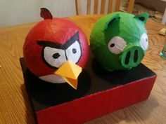 Angry Birds Paper Mache Valentines Day Box