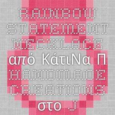 Rainbow statement necklace από ΚάτιΝα Π. handmade creations στο jamjar