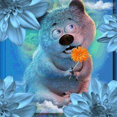 Bear Gif, Teddy Bear Pictures, Cute Love Gif, Funny Emoji, Gifs, Funny Art, Sweet Dreams, Birthday Wishes, Art Dolls
