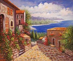 "Beautiful Online Paintings Mediterranean With Ocean Oil Painting, Size: 24"" x 20"", $83. Url: http://www.oilpaintingshops.com/beautiful-online-paintings-mediterranean-with-ocean-oil-painting-1916.html"
