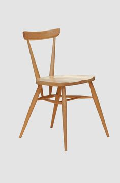 This designer stacking chair by Ercol is part of its famous Originals collection - View this stylish dining chair online today at Barker and Stonehouse Ercol Chair, Ercol Furniture, Counter Stools With Backs, Steam Bending Wood, How To Bend Wood, Barker And Stonehouse, Furniture Factory, Stacking Chairs, Buy Chair