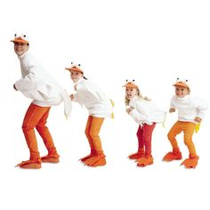 Halloween Costumes: Duck Costume | Crafts | Spoonful - Orange pants, white shirt, orange shoes with gators, a tail (I require a tail on Parker.)