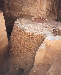 This is a stone tower built into the settlement walls of Jericho, circa 8,000-7,000 BC.