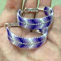 Native beaded hoop earrings
