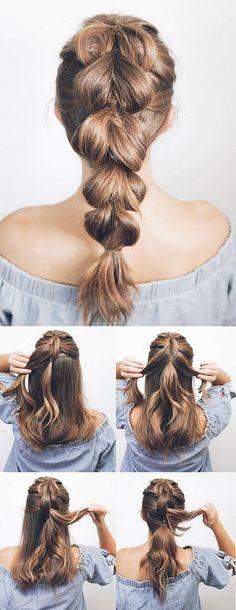 100 charming braided hairstyles ideas for medium hair (69)