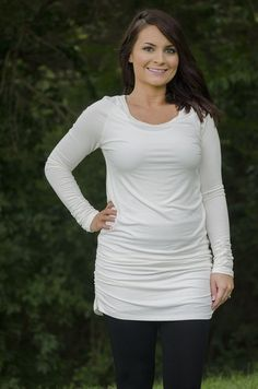 Oakleigh Rose - Fall Layers Tunic - White (http://www.oakleighrosestyle.com/fall-layers-tunic-white/)
