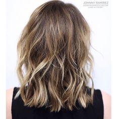 """My hair color creation❤️ Lived in color™ Short Balayage, Hair Color Balayage, 2015 Hairstyles, Pretty Hairstyles, Brunette Color, Celebrity Hair Stylist, Hot Hair Styles, Dream Hair, Dark Hair"