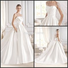 Cheap dress walking, Buy Quality dress direction directly from China dresses pattern Suppliers: 2014 custom made freeshipping new elegant pleated sash zipper satin train Vestido de Noiva ball gown wedding