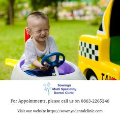 Paediatric Dentistry is a branch of dental science which deals with specialization in children's dental issues and oral problems. Sowmya Multi Speciality Dental Clinic has the best paediatric dentist in Guntur. Dental Kids, Dental Care, Pediatric Dentist, Orthodontics, Happy Smile, Pediatrics, Dentistry, Appointments, Your Child