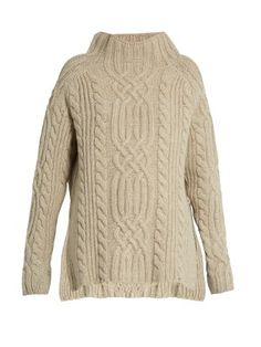 Side-split cable-knit wool sweater | Raey | MATCHESFASHION.COM US