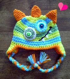 Monster Ear-Flap Hat Bad-Boy Toddler Hat