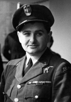 Portrait of Flying Officer Antoni 'Tony' Glowacki, who shot down five enemy planes in one day on 24 August 1940 while in service with No. 501 Fighter Squadron RAF. At the time this photograph was taken, 13 April 1943, he was serving with No. 308 (Polish) Fighter Squadron. HU 106461.