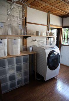 Laundry Room, Washing Machine, Home Appliances, Menu Template, Storage, Places, Home Decor, House Appliances, Purse Storage