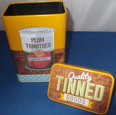 TYPHOON RETRO POP ART VINTAGE RETRO STYLE CONTAINER TIN STORAGE CANISTER