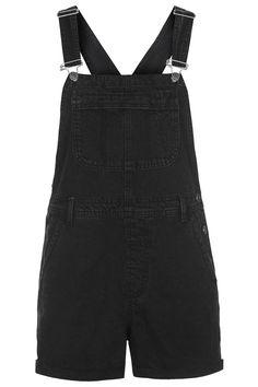 MOTO Black Short Dungarees - Topshop Black Short Overalls 8e940cbb772