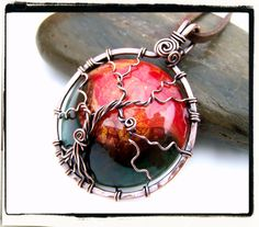 Wire Wrap Lesson Sleeping Tree of Life Pendant by FashionWire on Etsy # tutorial #DIY #wire