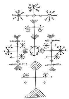 Galdrastafir: Icelandic Magical Superstaves - These are the most complex and often the most beautiful of the symbols. They often fall under the Rood-cross banner (spelt variously in Icelandic as Rúdukross, Ródukross or Rotaskross) and are mostly used for protection against evil.