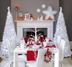 White Christmas Living Decorations Design Trends Elegant Decor Scandinavian