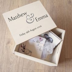 personalised wedding memory box by plantabox | notonthehighstreet.com